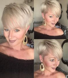 Frisuren + L Gorgeous blonde pixie 🧚♀️ cut beauty reveal by Corinna Insta Funky Short Hair, Short Choppy Hair, Short Pixie Haircuts, Short Hair Cuts, Short Hair Styles, Blonde Pixie Cuts, Pelo Pixie, My Hairstyle, Great Hair