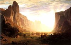 Yosemite - Albert Bierstadt (1830 - 1902) - Hudson River School, luminism, American Western expansion, and bigger than life landscapes!