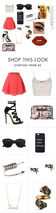 """""""Random outfit(I sooo bored)"""" by alexandraautidiea9 on Polyvore featuring LE3NO, New Look, Jimmy Choo, Marc Jacobs, Sydney Evan, Gucci and Lime Crime"""