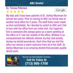 My kids and I have been patients of Dr.  Ashley Moorman for almost two years. Prior to...