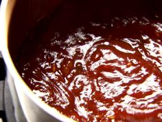 Homemade BBQ Sauce from Pioneer Woman.  Cut down on peppers.