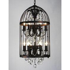 Zentique Inc. Vintage Birdcage 12 Light Crystal Chandelier