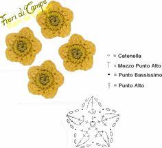 Crochet Flower - Chart ❥ 4U / /hf