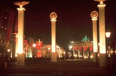 Germany lit up at midnight for Hitler's 50th birthday. April 1939