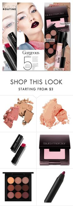 """5 Beauty"" by barbarela11 ❤ liked on Polyvore featuring beauty, Bobbi Brown Cosmetics, Laura Mercier, MAC Cosmetics, Burberry and Too Faced Cosmetics"
