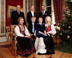Una de las instantáneas del posado navideño de la Familia Real noruega