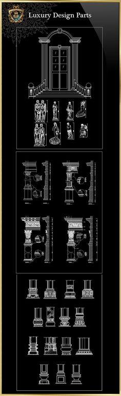Royal Architecture Design Block 2  CAD Design | Free CAD Blocks ,Drawings,Details