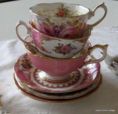Rose Chintz Cottage: Pinks for Pink Saturday and Open House