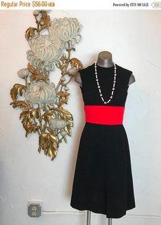 132566e9336a 1960s dress wool dress mod dress size small vintage dress scooter dress  black and red dress