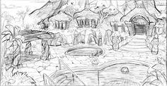 Environment Sketch, Environmental Art, Game Design, Tumblr, Animation, Black And White, Architecture, Illustration, Arquitetura