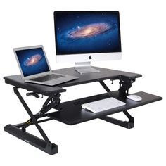 mount it large standing desk 48 inch extra wide height adjustable rh pinterest com