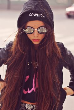 Love the hoddie with long hair