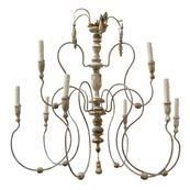 Italian Wood Chandelier Click photo for more details