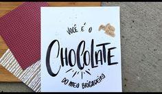 Quem você ama mais que chocolate? _______  E se quiser aprender a fazer esse tipo de brush lettering, não esquece de ir no meu canal do Youtube  Link na bio.  #typespire #goodtype #thedailytype #thedesigntip #handlettering #lettering #typography #typeveryday #handmadefont #creativity  #design #byalinealbino #frases #quotes #amor #chocolate #brigadeiro