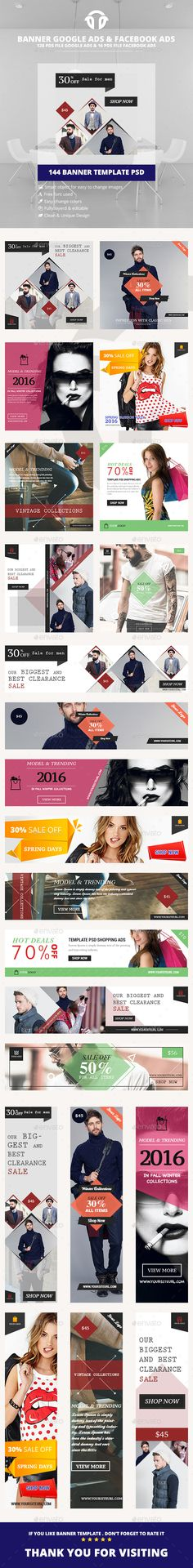 Buy Bundle Fashion Banner Ads by iDoodle on GraphicRiver. DESCRIPTION : Vintage Fashion Ads Template is a clean and unique design so far using the latest trendy material desig. Banners, Web Banner, Banner Template, Social Media Template, Social Media Design, Cover Photo Design, Facebook Ad Size, Advertising Techniques, Education Banner