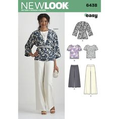 New Look Pattern 6438 Misses' Easy Pants, Kimono, and Top