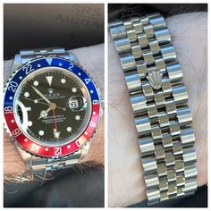 Let's See Your GMT-Master on a Jubilee Bracelet - Page 7 - Rolex Forums - Rolex Watch Forum Rolex Watches For Men, Cool Watches, Rolex Tudor, Speedmaster Professional, Mens Fashion Suits, Mens Suits, Submariner Date, Rolex Gmt Master, Oyster Perpetual