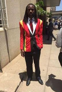 Zimbabwean lawmaker is refused entry into Parliament because of his colourful suit (photos)   Whatsapp / Call 2349034421467 or 2348063807769 For Lovablevibes Music Promotion   Zimbabwean member of parliament Trevor JI Saruwaka was denied entry into his work place because his outfit supposedly flouted house rules. The lawmaker turned up to work dressed in a multicolour suit after the colours of the national flag. There's more to the story however. In recent times anti-government members in…