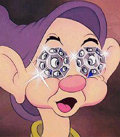 gif trippy eyes drugs cartoon draw colors diamonds snow white ecstasy walt disney world great dwarfs diamantes seven dwarfs