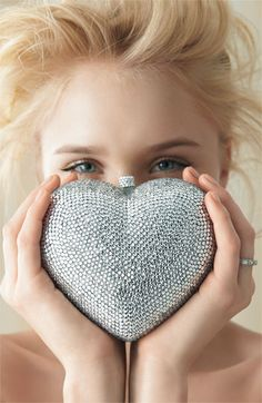 heart clutch  SILVER VERSION & JUST AS SWEET & BLING ON! <3<3<3 @