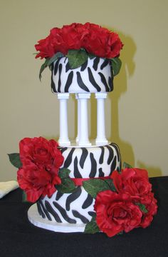 Zebra Wedding Cake 08/2011