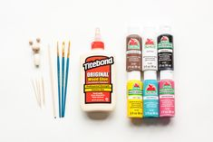 Make these adorable kiddie cocktail stir sticks inspired by Kokeshi dolls for your next party! Diy Kokeshi Dolls, Stir Sticks, Wood Glue, Japanese Art, Biscuit, Brain, Charlotte, Arts And Crafts, Children