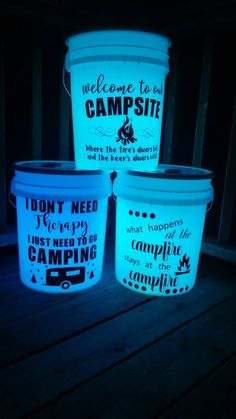 Light up camp bucket Night light camping bucket multi-light camping tshirts, lake camping hacks, camping hacks tent Camping Hacks With Kids, Camping Needs, Camping Places, Camping Lights, Camping Checklist, Camping Essentials, Family Camping, Outdoor Camping, Boy Scouting
