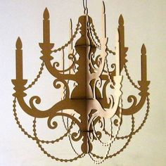 Classic Cardboard Chandelier  Traditional Eco Decor by seequin, $32.00 spraypaint black- off center of dessert table