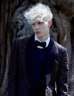 Wolfie and his white hair. (Model Thomas Penfound, photographed by Michael Hemy-permission granted by photographer)