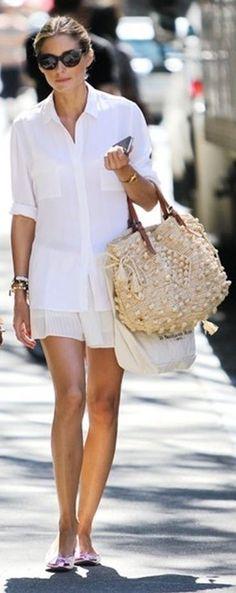 Vestidos Blancos Para El Verano - White Dresses For Summer  ... with a nice gerard darel bag !