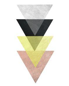 Art scandinave triptyque Art géométrique Art par exileprints