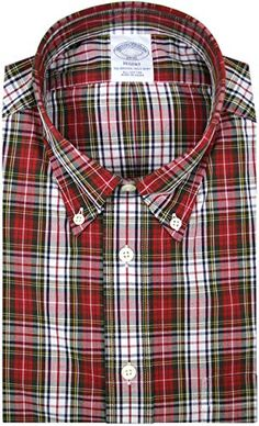 Brooks Brothers Mens Regent Fit All Cotton Short Sleeve Button Down Shirt Blue Multi Plaid Checked Small