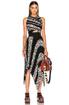 PROENZA SCHOULER Printed Pleated Cloque Dress. #proenzaschouler #cloth #