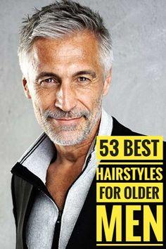 53 Magnificent Hairstyles for Older Men Older Mens Hairstyles For Thinning Hair, Mature Mens Haircuts, Stylish Haircuts, Thin Hair Haircuts, Cool Hairstyles, Haircuts For Older Men, Boy Haircuts, Grey Hair Beard, Grey Hair Men