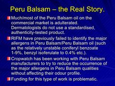 Break the Cycle: Balsam of Peru - Dermatitis Academy