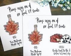 Custom Favors Sign-Print, personalized drawing illustration, his and hers, party favors table, please take one, thank you, our gift to you
