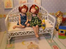 OOAK миниатюрный Кукольный дом сестры комплект * нестандартного кукла создания * by Carol McBride