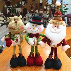A piece 2015 Lovely Santa Claus Snowman Reindeer Christmas Decoration For Home Indoor Ornament Enfeites De Natal Decoration Christmas, Christmas Crafts For Gifts, Cheap Christmas, Xmas Decorations, Simple Christmas, Christmas Tree Ornaments, Reindeer Christmas, Kids Christmas, Merry Christmas