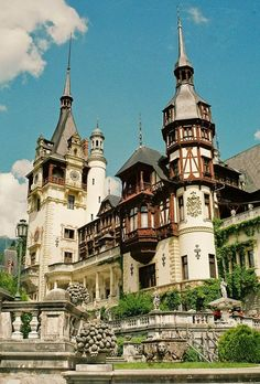 The beautiful Peles in Romania. This castle is so awesome on the inside