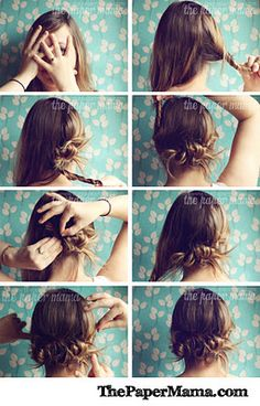 The search for cute, quick hairstyles (not a pony tail) continues!