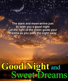 Send this good night ecard to a friend or family member. Free online Wish You Good Night And Sweet Dreams ecards on Everyday Cards Good Night Miss You, Good Night Love Images, Good Night Everyone, Good Night Image, Good Morning Good Night, Good Night Qoutes, Good Night Prayer, Good Night Blessings, Good Night Messages