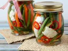 Refrigerator Pickles...and carrots, cauliflower, green beans etc.