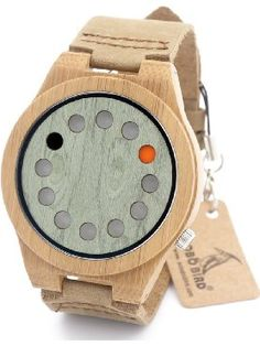 BOBO BIRD B076 Unisex Bamboo Wood Watches Dial Dia 45mm With Real Leather Watch Bands ❤ SHENZHEN BOBOBIRD LTD