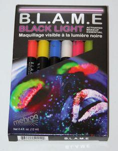 Mehron Blame Black Light Cream Makeup FX Face Paint Pen Hair UV Pro Size Neon   eBay