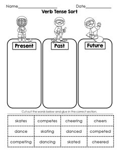 Winter Sports / Games Language Arts morning work. Just in time for the Winter Olympics! A fun way to address: verb tense, common nouns, proper nouns, prefixes, & pronouns.   4 great activity sheets!