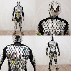 ➨ Overview: We offer you low cost flexible disco ball mirror costume of high quality made of real mirror from Italy. With this mirror costume you