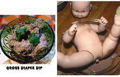 Gross Diaper Dip, need I say more?@divinedinnerparty.com