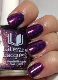 Literary Lacquers Soul Within Me Burning from The Color Box Purple All the Things in direct light Color Box, Swatch, Nail Polish, Purple, Nails, Make Up, Finger Nails, Ongles, Nail Polishes