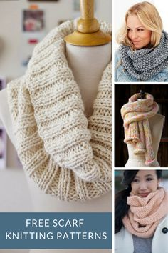 Scarf knitting patterns free - great for any beginner knitters.