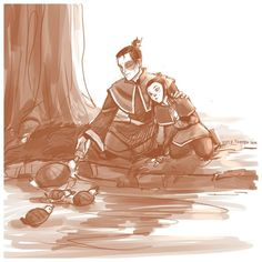 Zuko, his Daughter, and turtle ducks <3 from avatar lol I didn't know he had a daughter and no idea what turtle ducks are hehe